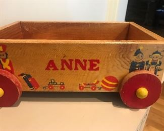 Vintage child's toy wagon