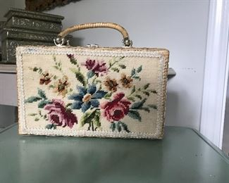 Vintage needlepoint bag, mint condition, 1950 beauty