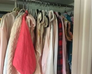 Lovely bed jackets,robes, pajamas and wonderful lingerie.