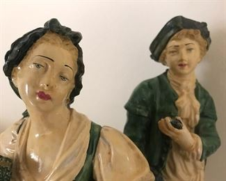 French statues, husband and wife, Parisienne loveliness