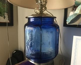 Planter peanut jar lamp. Not vintage