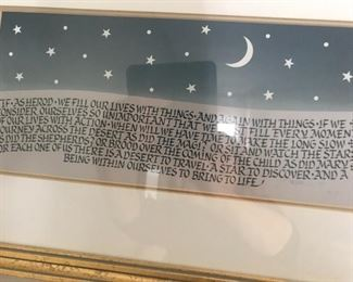 Calligraphy by a master, wall art, inspiration