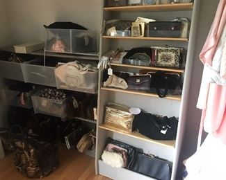 Handbags, wallets, compacts, clutches, totes, cross body, suitcases, traincases