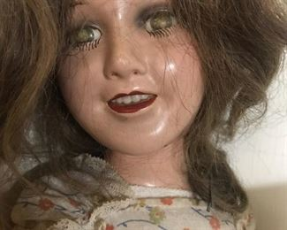Wow is she spooky, ancient doll