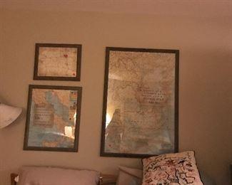 Map wall art, travel art, maps galore