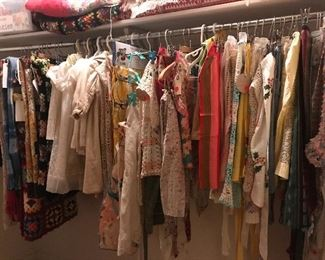 Tons of linens,aprons, hankies, pillowcases, treasures, needlepoint, quilts, blankets, afghans