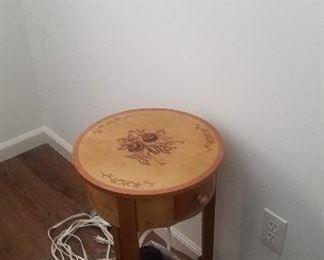 nice stenciled lamp table