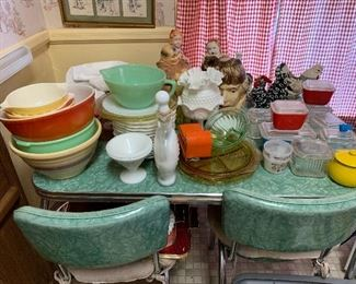 Vintage table, chairs, kitchenware and more