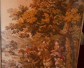 Panneaux Gobelins tapestry, signed C. Detti