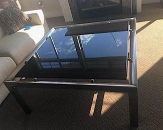 100 Modern Brushed Steel Glass Living Room Table