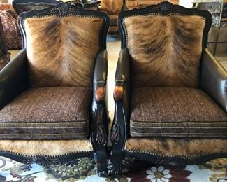Paul Robert Cowhide Chairs (4 total)
