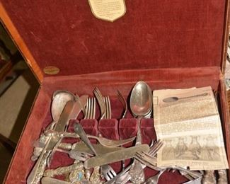 Silver-plated Victorian Flatware Set