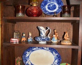 Amberina Oil Lamp, Flow Blue, Ruby Flash, etc.