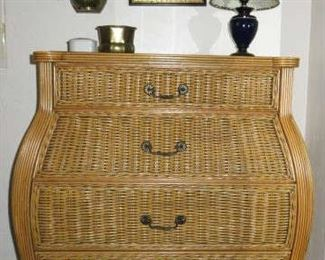 Bombay Natural Wicker Chest of Drawers & Matching Dresser