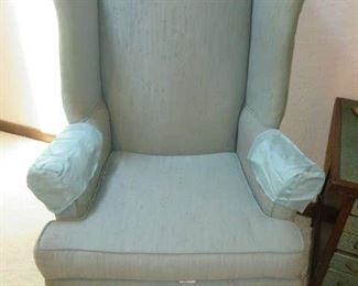 Pair Thomasville Wingback Armchairs