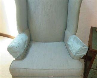 Pair Thomasville Wingback Armchairs