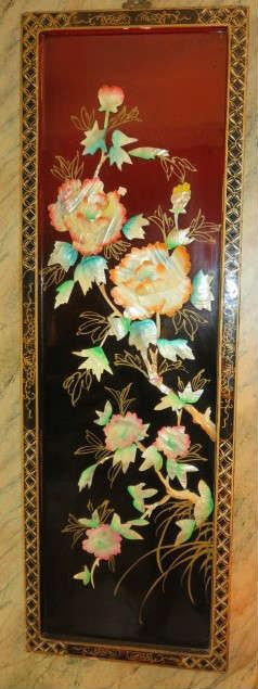 Pair Decorative Asian Wall Panels.