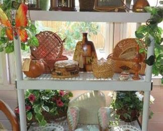 Mantel Clocks, Silk Plants, Wicker Baskets