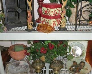 Items from Indonesia, Wine Racks, Silk Plants, Collector Plates
