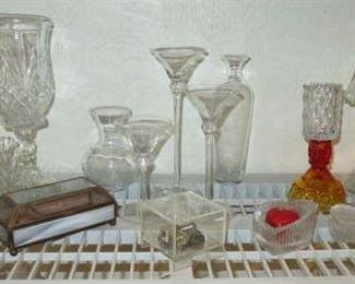 Glass Candle Sticks, Holders