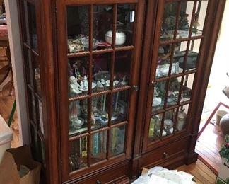 Beautiful window pane china display or book cabinet.