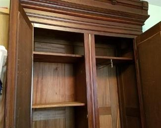 Inside of Eastlake Armoire, different lighting than previous photo