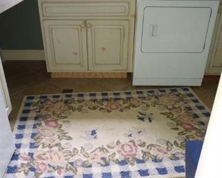 Hand hooked rug.