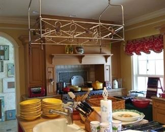 Pot rack not for sale - stays with house.