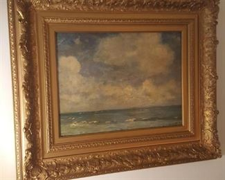 Antique oil seascape by Henry Ward Ranger, listed and noted American artist