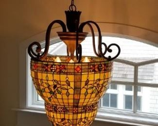Fantastic stained glass chandelier
