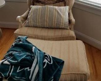 Chair & ottoman mfg. by Harden. Gorgeous!