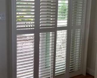 Sliding plantation shutters for sliding glass doors - 3 sets available