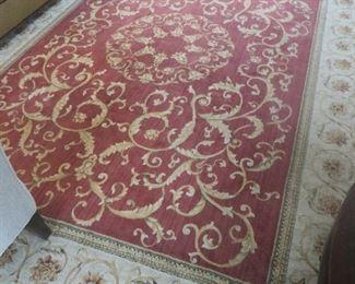 "Burgundy ""Oriental Style"" Area Rug"