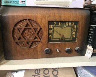 art deco Judaica radio