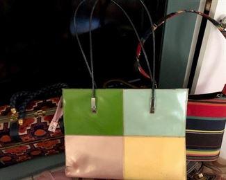nice mid-century modern handbag....other vintage handbags for sale too