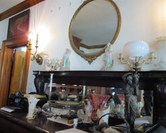 vases & silverplate & mirrors