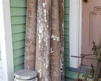 wooden columns