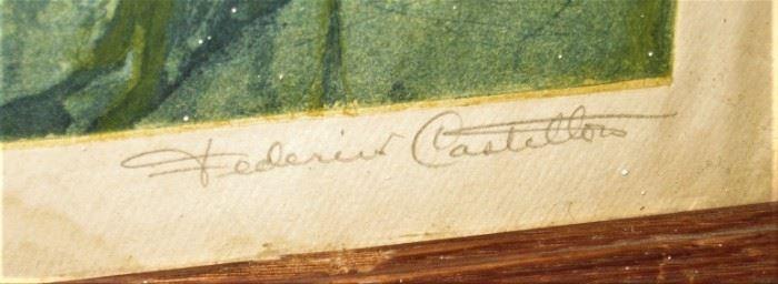 Federico Castellon signature