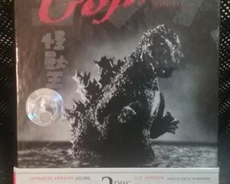 Gojira DVD, Japanese Version of Godzilla, Unopened 2 disc set with hologram!