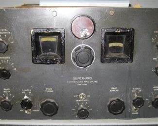 Hammarlund Manufacturing US Army Signal Corps BC-779A Radio Receiver with RA-84A Power Supply.