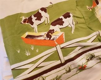 cow tablecloth