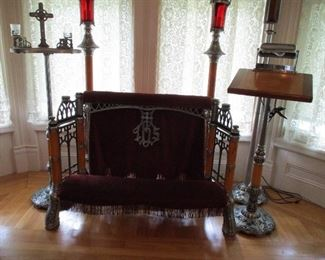 set of funeral parlor items