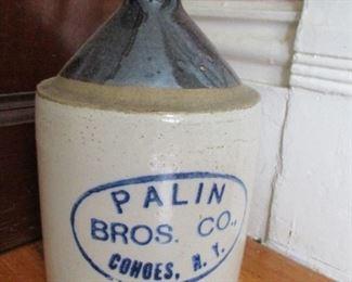 Cohoes Palin Brothers stoneware jug