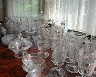 collection of Venus & Cupid antique glass