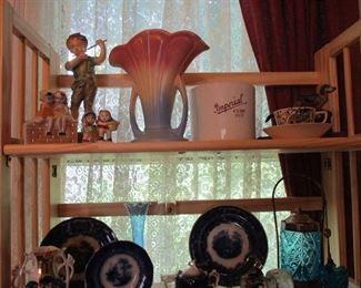 flow blue & pottery