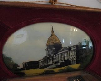 Reverse painting of the capitol