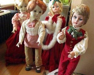 4 Christmas automatons