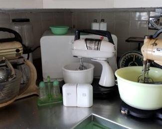 Vintage retro mixers and kitchenware