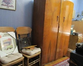 chairs & cabinet