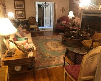 Lots of rugs through out the home. Some Great furniture and other home furnishings